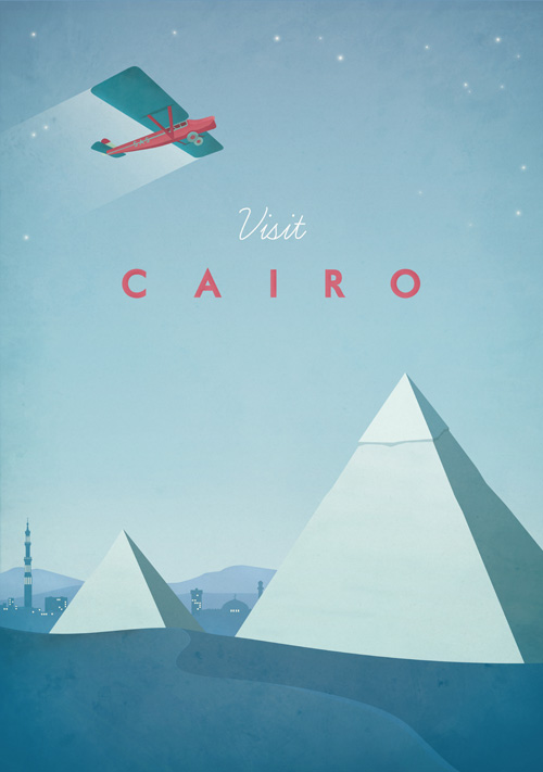 Cairo Vintage Travel Poster Art Print by Henry Rivers