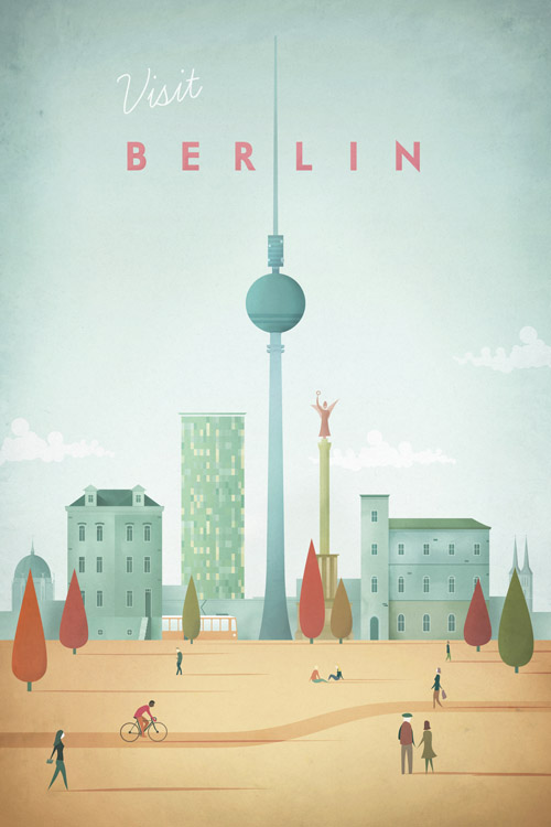 Berlin Vintage Travel Poster Art Print by Henry Rivers