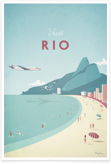 Rio Vintage Travel Poster Art by Henry Rivers