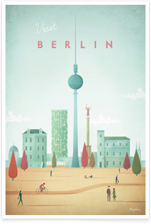 Berlin Vintage Travel Poster Art by Henry Rivers