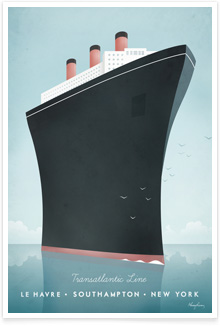Vintage travel poster - Cruise