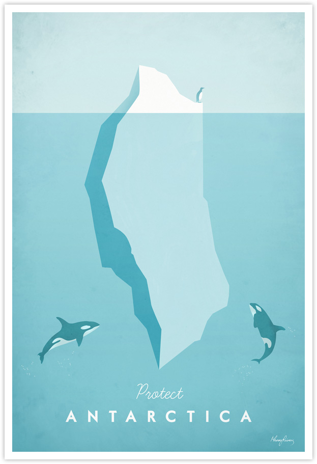 Vintage Travel Poster - Antarctica Vintage Travel Art