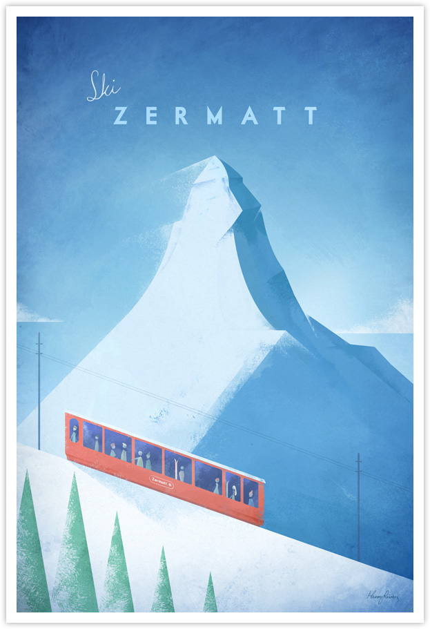 Zermatt Vintage Ski Poster Travel Poster Co