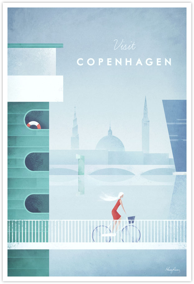 Vintage Travel Poster - Copenhagen Vintage Travel Art