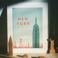 New York Vintage Travel Poster Art Print - Berlin Vintage Travel Poster - vintage style artwork by Henry Rivers of Travel Poster Co.