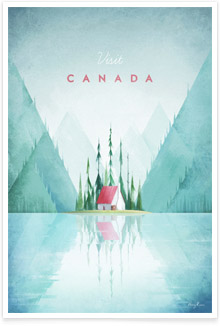 Canada Vintage Travel Poster Art by Henry Rivers