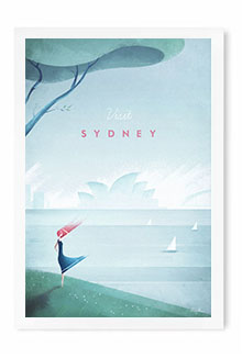 Sydney Vintage Travel Poster Art by Henry Rivers