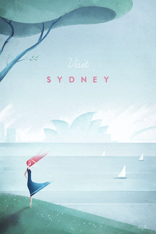 Sydney, Australia / Sydney Opera House Vintage Travel Poster Art Print by Henry Rivers