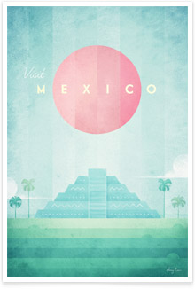 Mexico Vintage Travel Poster Art by Henry Rivers