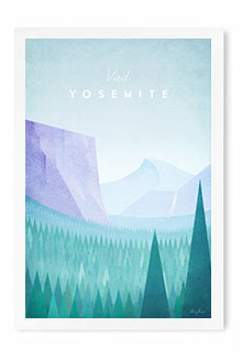 Yosemite Vintage Travel Poster Art by Henry Rivers