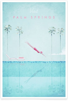 Palm Springs - vintage travel poster by artist Henry Rivers of Travel Poster Co.