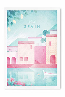Spain Vintage Travel Poster Art by Henry Rivers