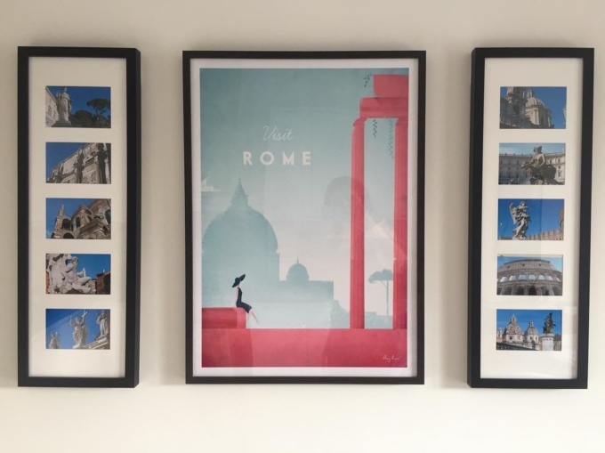 Rome travel poster by Henry Rivers - framed print
