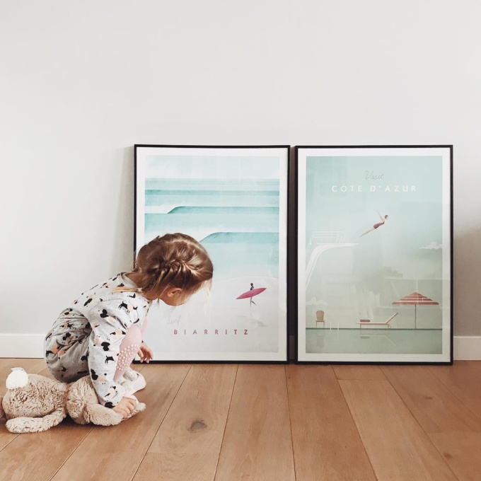duo of travel prints in a modern scandi style by artist Henry Rivers