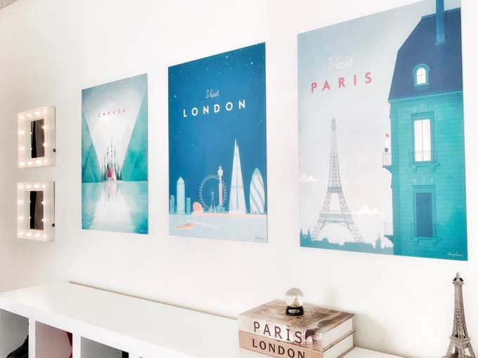 canada london and paris travel poster wall art prints
