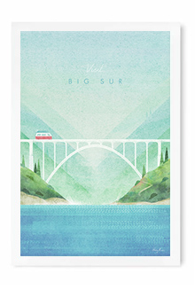 Big Sur Vintage Travel Poster Art by Henry Rivers