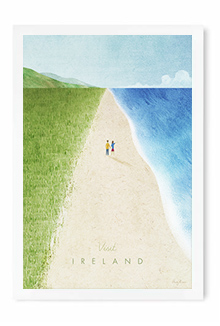 Ireland Vintage Travel Poster Art by Henry Rivers