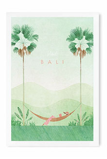 Bali Vintage Travel Poster Art by Henry Rivers